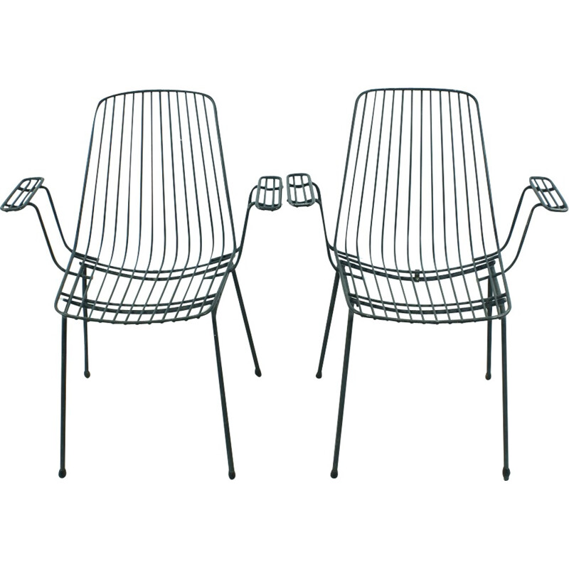 Vintage set of 2 garden chairs - 1960s