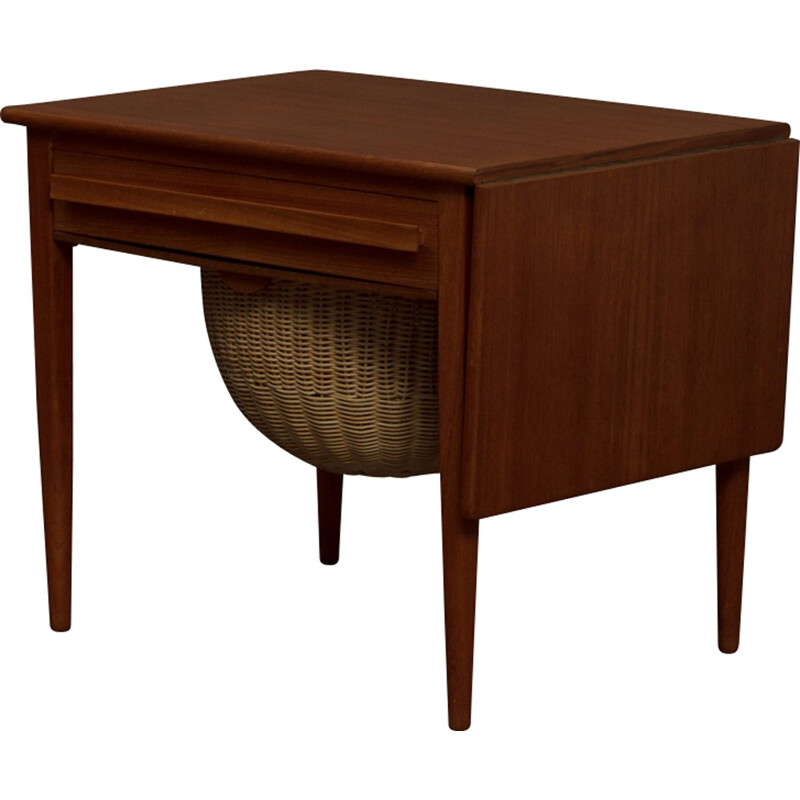 Vintage sewing table with extension by Johannes Andersen for CFC - 1960s