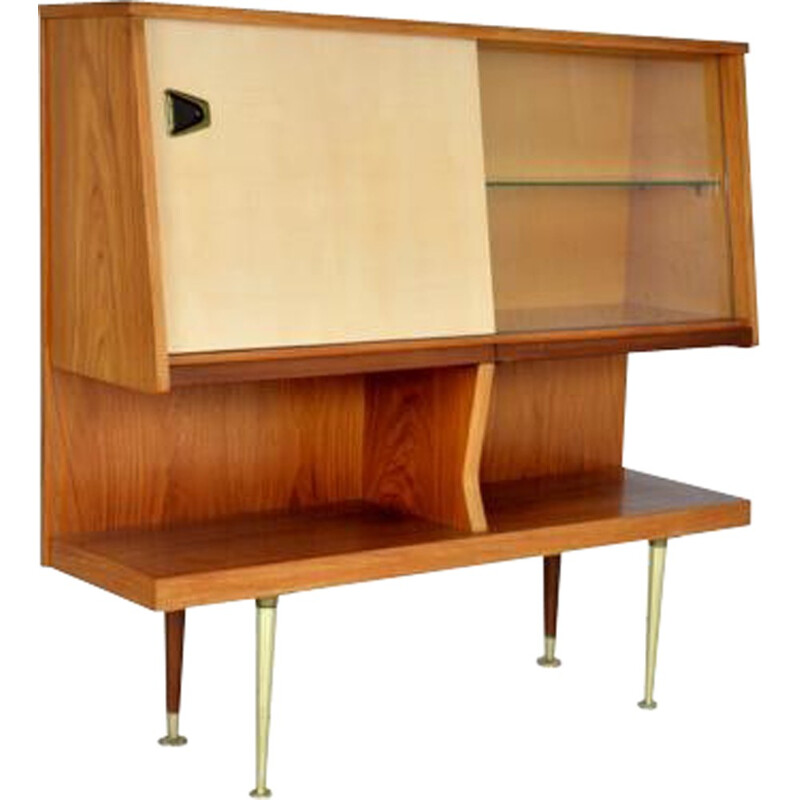Vintage italian wood highboard - 1960s