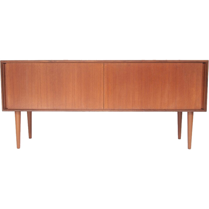 Vintage scandinavian sideboard with sliding doors - 1960s