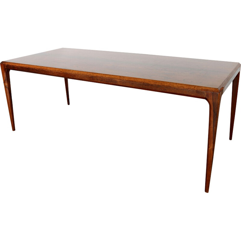 Vintage Danish Rosewood Coffee Table by Johannes Andersen for CFC Silkeborg - 1960s