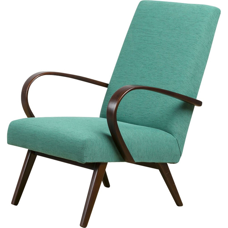 Vintage type 53 armchair by Jaroslav Smídek for TON - 1950s