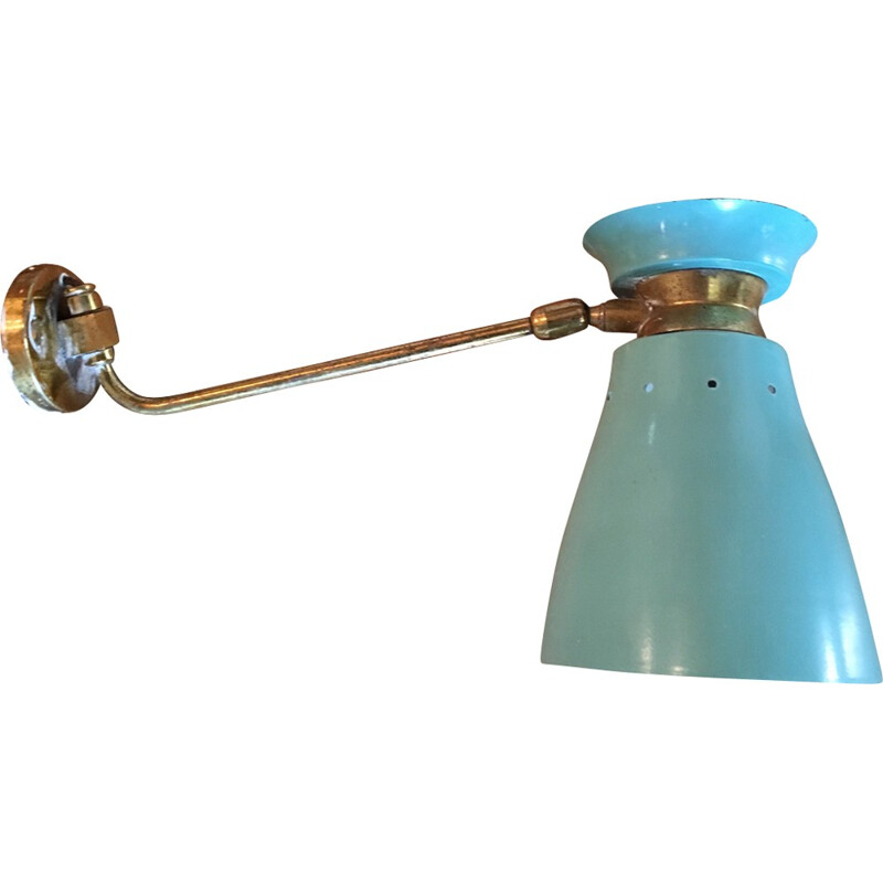 Vintage wall lamp in blue - 1950s