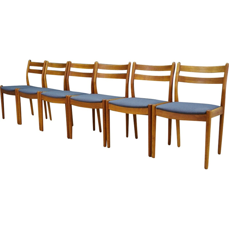 Set of 6 vintage chairs in teak for Poul M. Volther - 1960s