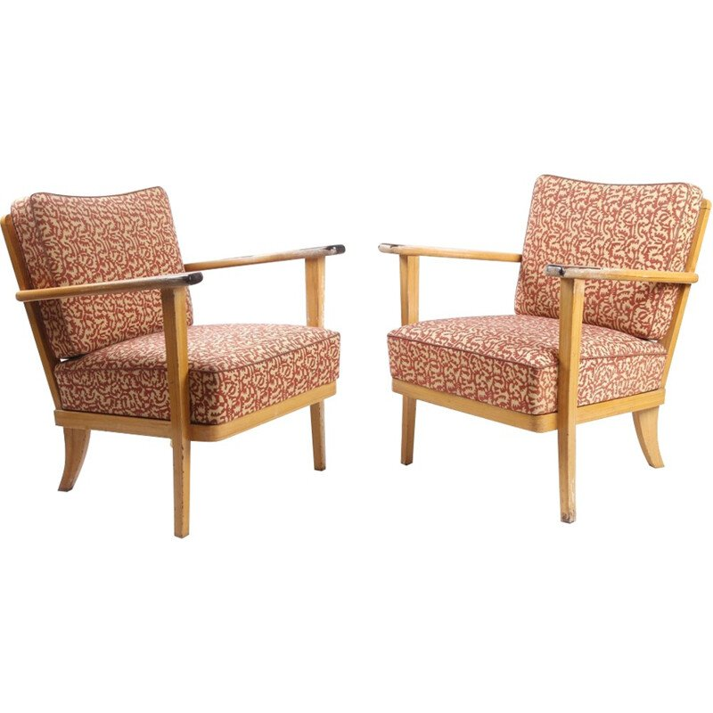 Vintage pair of armchairs by Thonet - 1940s