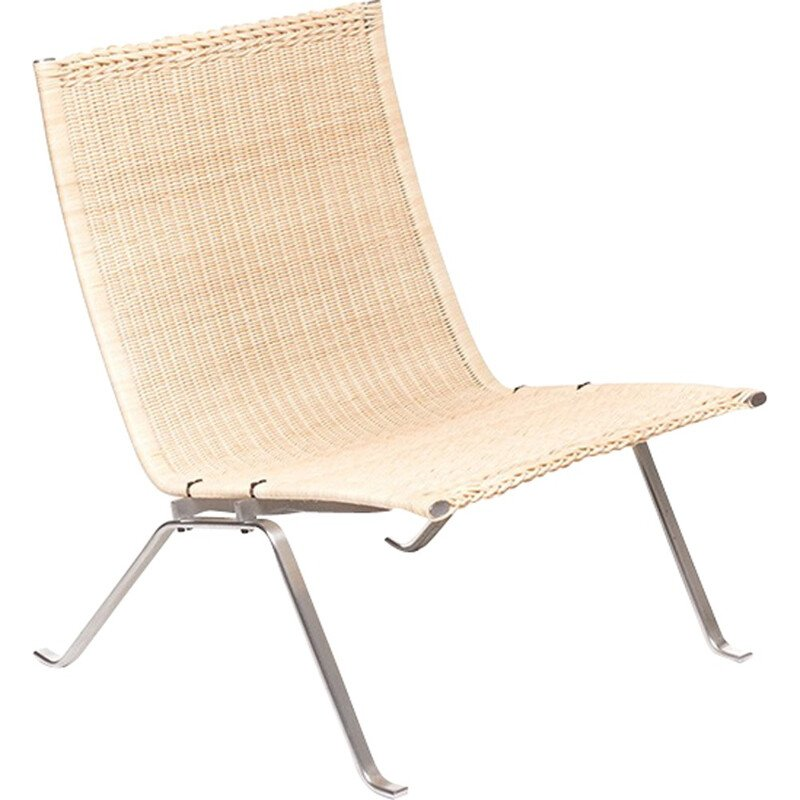 Vintage PK22 easy chair by Poul Kjaerholm for E. Kold Christensen - 1950s