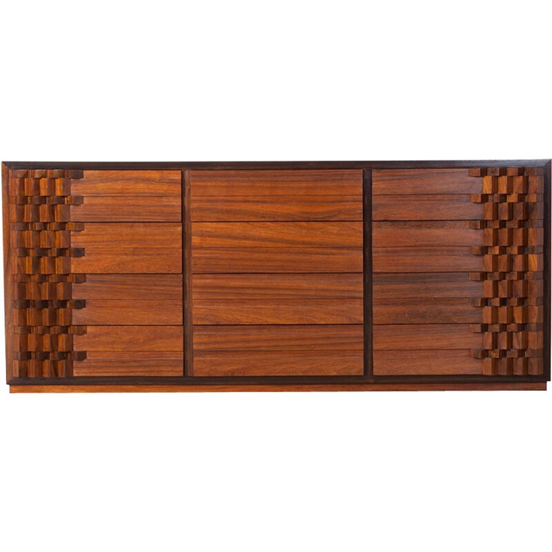 Vintage Walnut Chest Of Drawers by Luciano Frigerio - 1970s