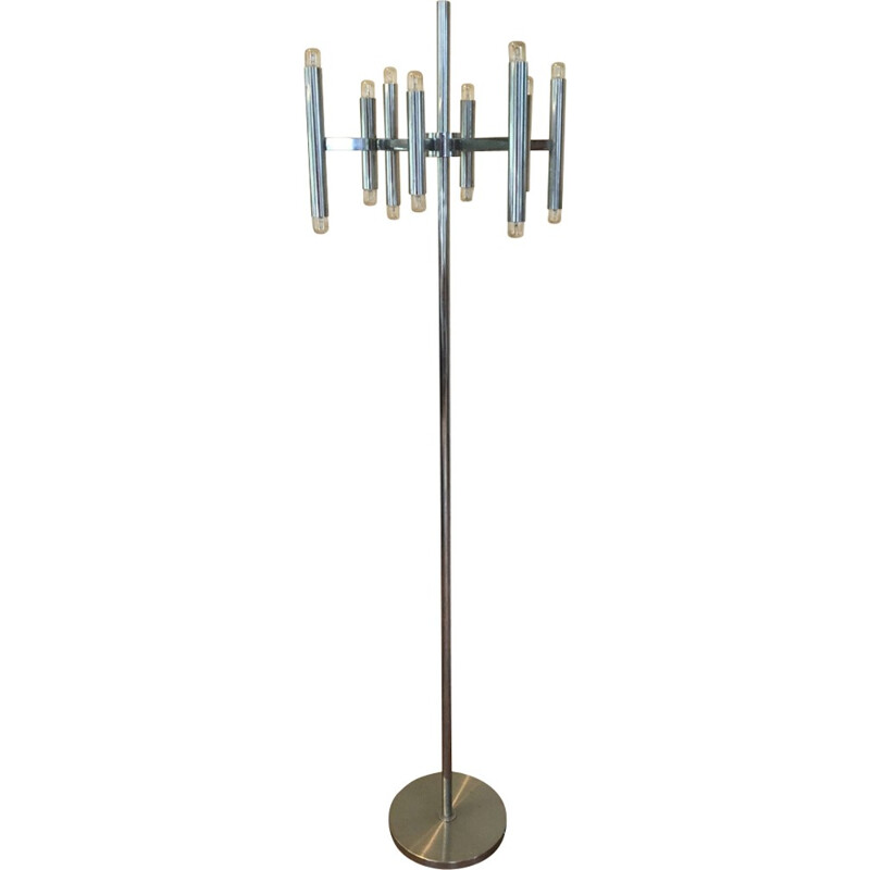 Mid-century chromed floor lamp - 1970s