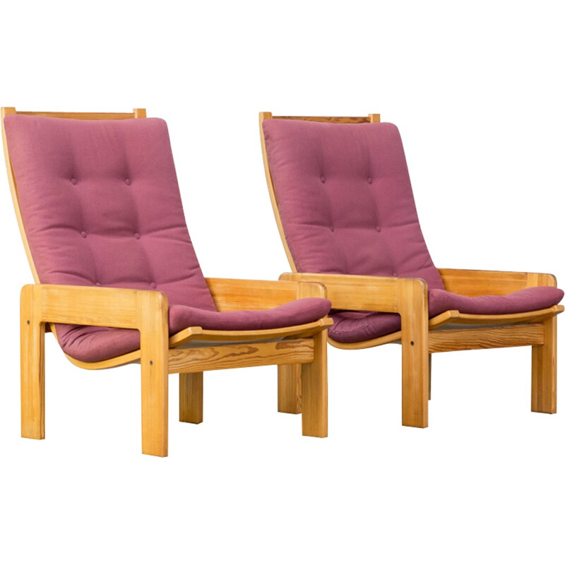 Set of two mid-century armchairs by Yngve Ekström for Swedese - 1970s