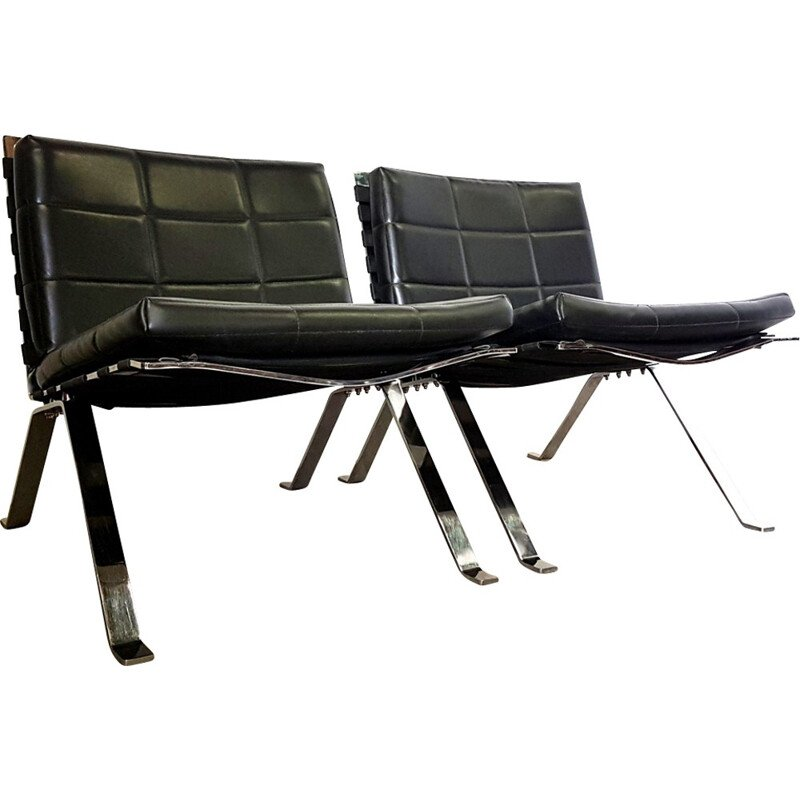 Set of 2 mid-century Eurochairs 1600 by Hans Eichenberger for Girsberger Switzerland - 1960s