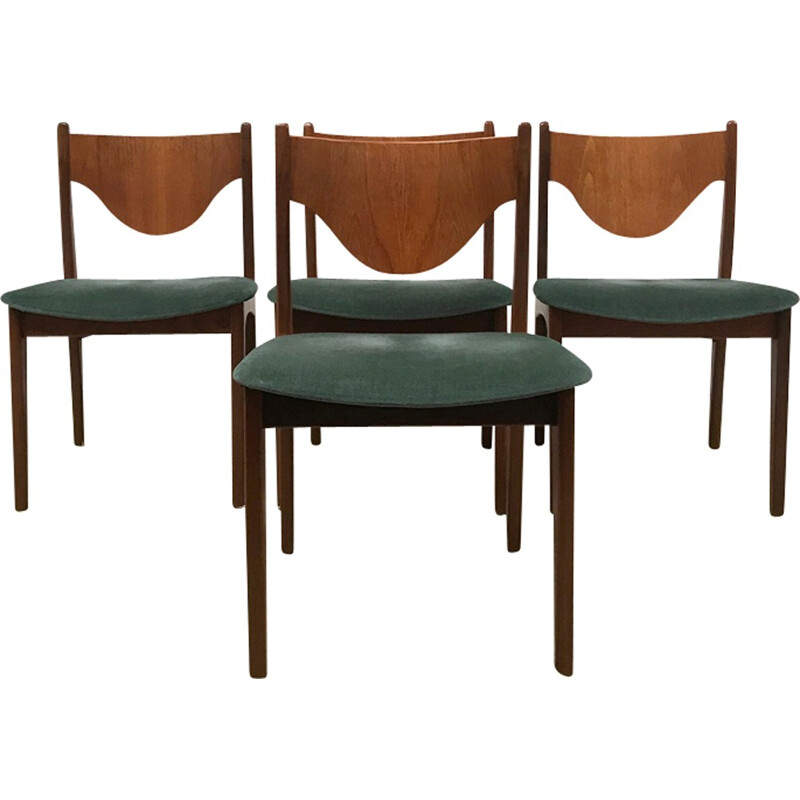 Retro Mid Century G Plan Brazilia dining chairs by Wilkins - 1970s