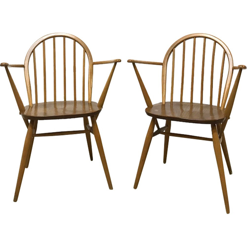 Set of two mid-century armchairs Windsor 370A by Ercol - 1960s