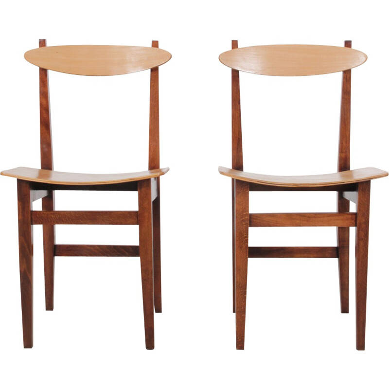 Pair of mid-century 200-102 model chairs by Maria Chomentowska - 1960s