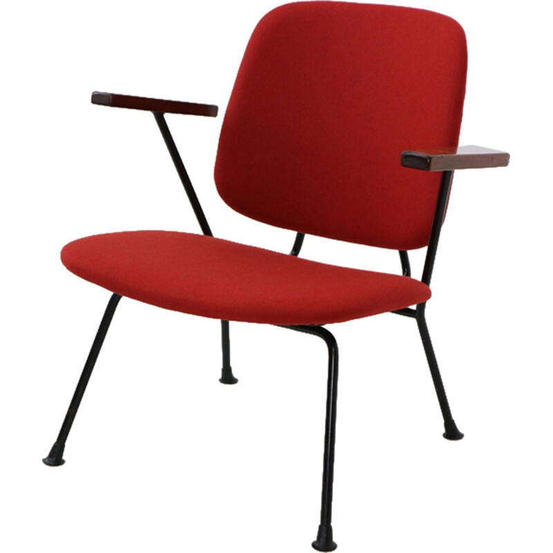 Red Vintage Armchair by W.H. Gispen for Kembo - 1950s
