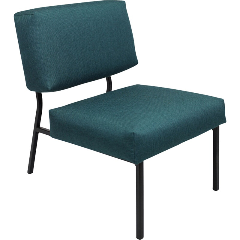 Vintage green armchair by Pierre Guariche - 1950s