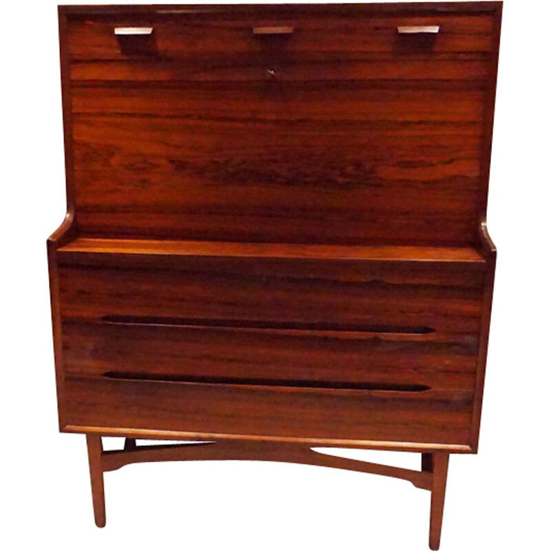 Danish clerk in rosewood of Rio by A.W.Iversen for Vinde MobelFabrik - 1960s