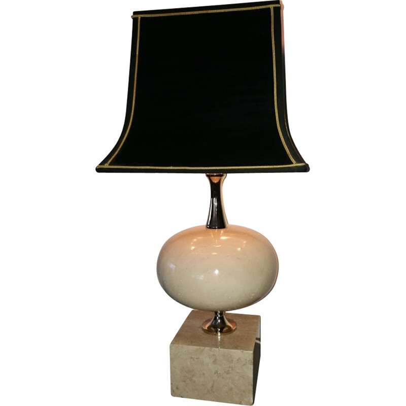 Vintage table lamp by Philippe Barbier - 1970s