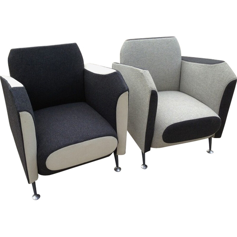 """Vintage pair of armchairs """"Hotel 21"""" by Javier Mariscal for Moroso - 1999"""
