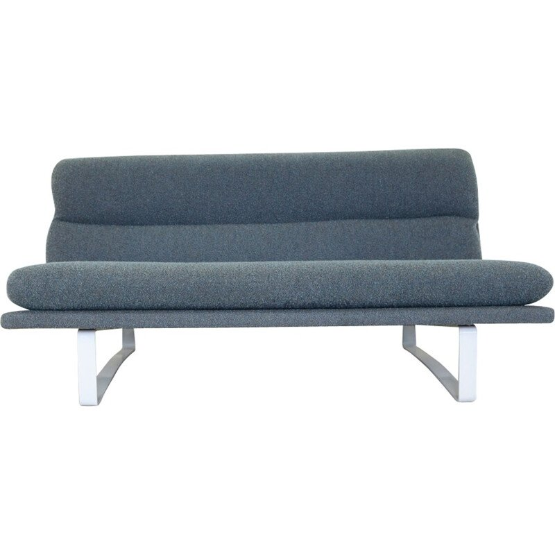 Set of two vintage dutch blue sofas by Kho Ling - 1960s