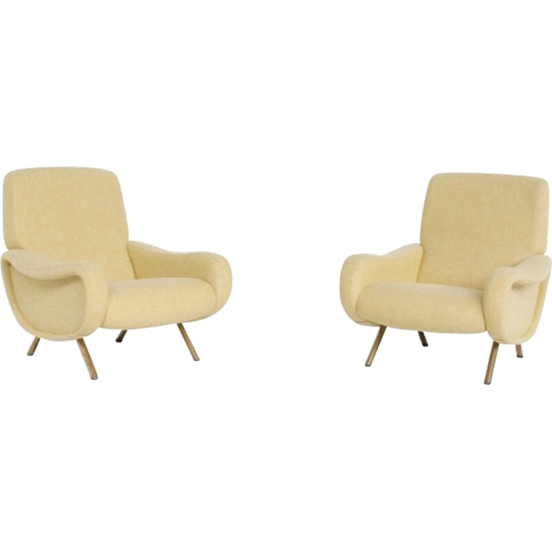 "Pair of ""Lady"" armchair by Marco Zanuso for Arflex - 1950s"