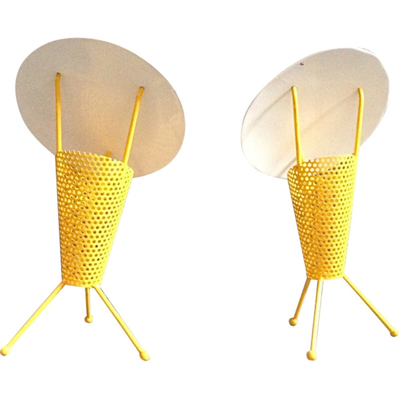 Pair of vintage lamp by Jacques Biny - 1950s