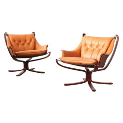 "Pair of armchairs ""Falcon"" by Sigurd RESSELL - 1970s"