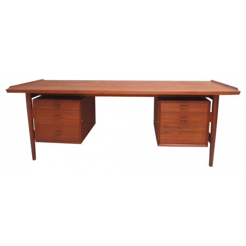"Desk ""206"" in teak, A. VODDER  - 1960s"