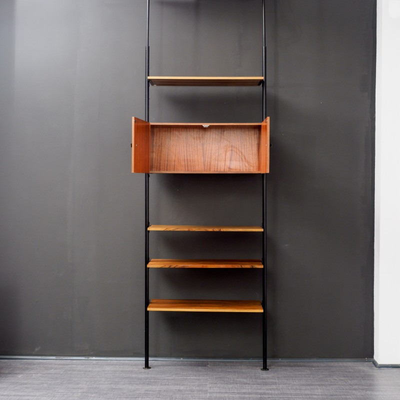Vintage Shelf Room Divider With Telescopic Poles 1960s