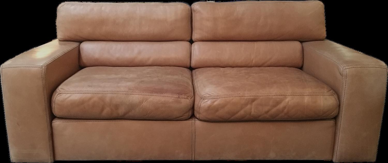 vintage 2 seater leather sofa by durlet 1970s design market. Black Bedroom Furniture Sets. Home Design Ideas