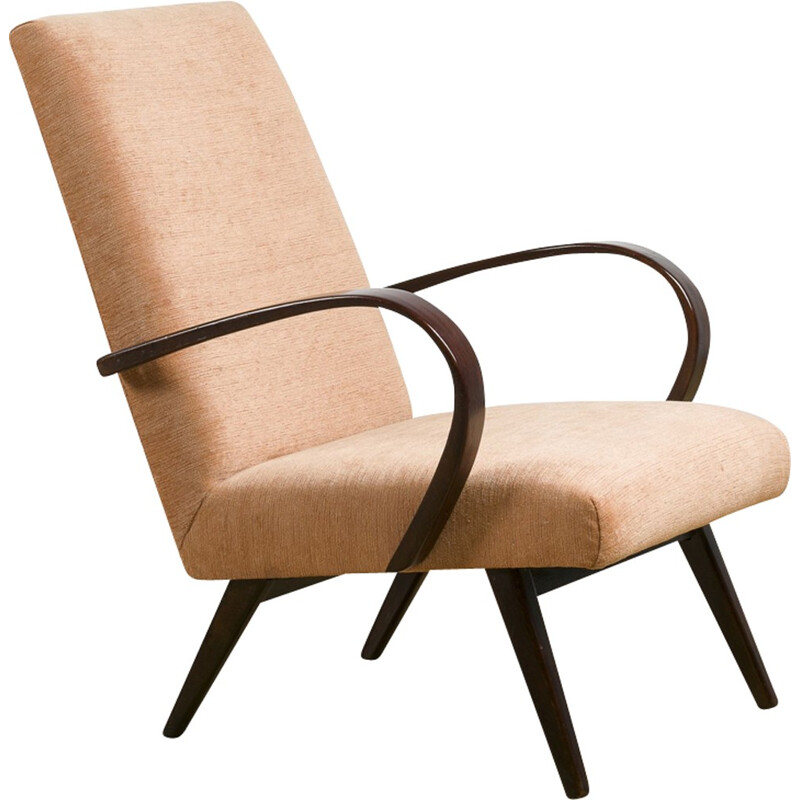 Mid-century Model 53 Armchair by Jaroslav Smidek for TON - 1950s