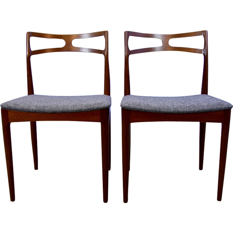Mid-century Danish dining chairs in teak by Johannes Andersen - 1960s