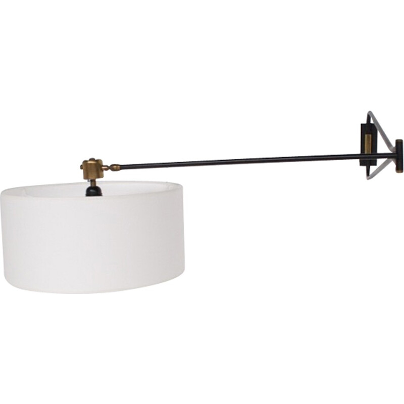 Orientable mid-century wall lamp for Lunel - 1950s