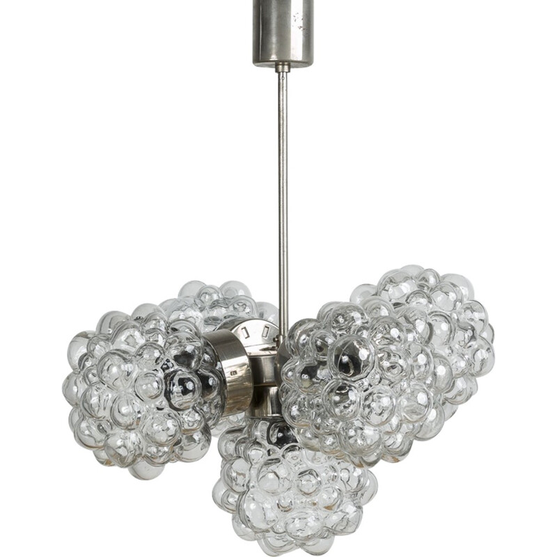 Vintage Bubble Glass Chandelier by Helena Tynell - 1970s