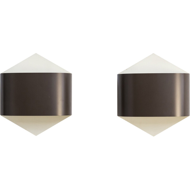 Vintage pair of wall sconces by Rolf Krüger & Dieter Witte wall sconces by Staff Germany - 1960s