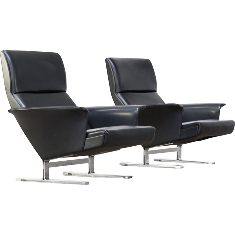 Vintage pair of lounge chairs by Georg Thams for Vejen Polstermobelfabrik AS - 1970s
