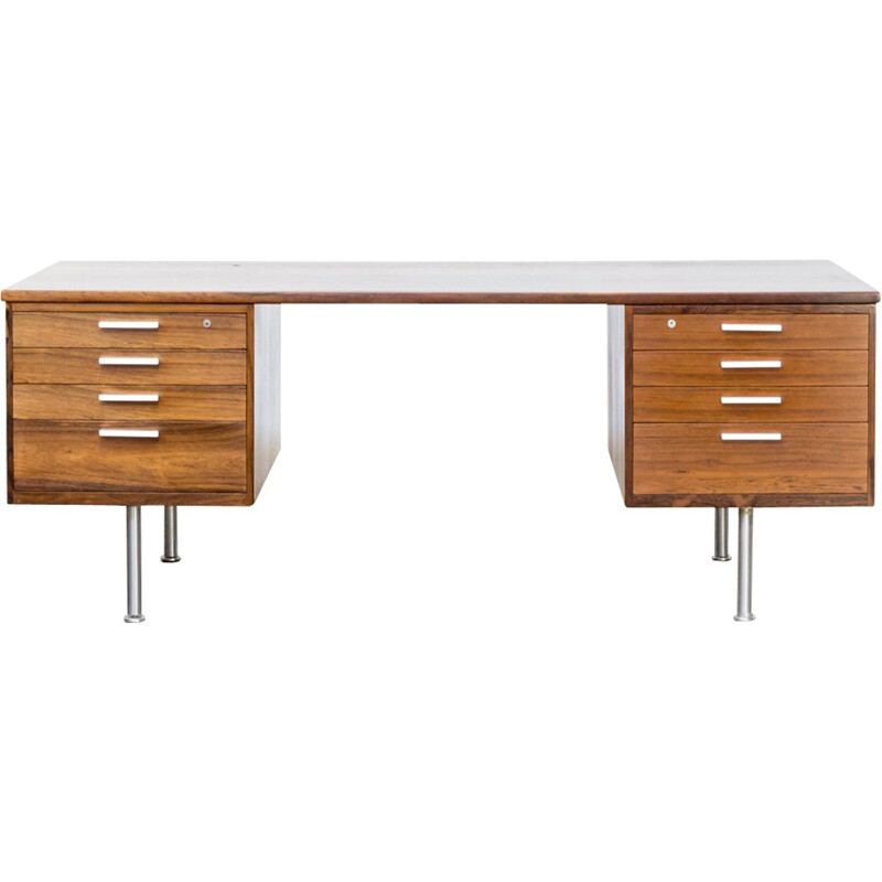 Vintage rosewood writing desk by Kai Kristiansen for Feldballes Møbelfabrik - 1960s