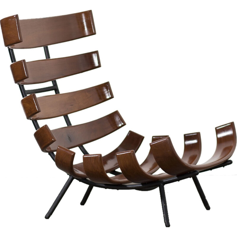 Vintage Rib chair by Martin Eisler and Carlo Hauner - 1960s