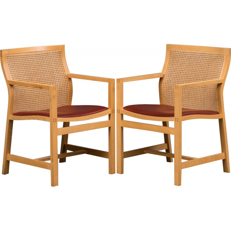 2 mid century chairs by rud thygesen and johnny s rensen for 1980s chair design