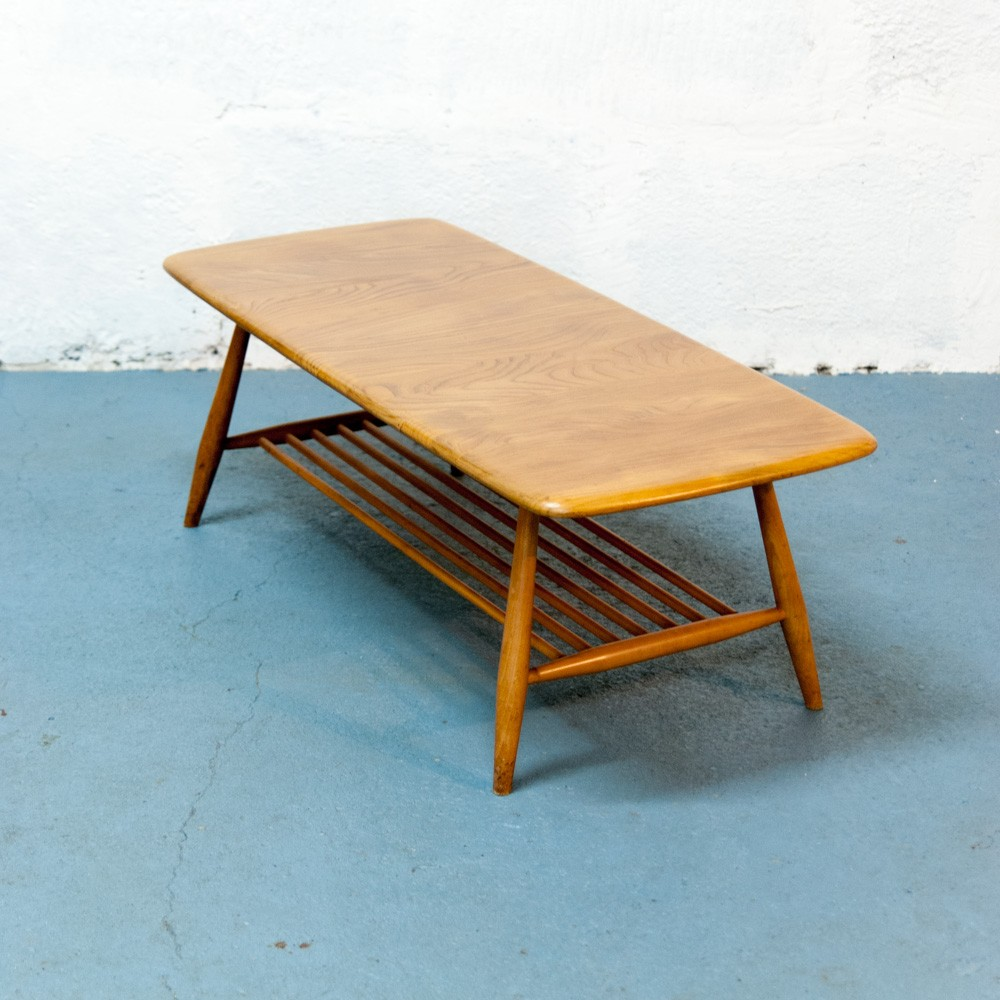 Ercol Oval Coffee Table: Mid-century Ercol Coffee Table 104cm