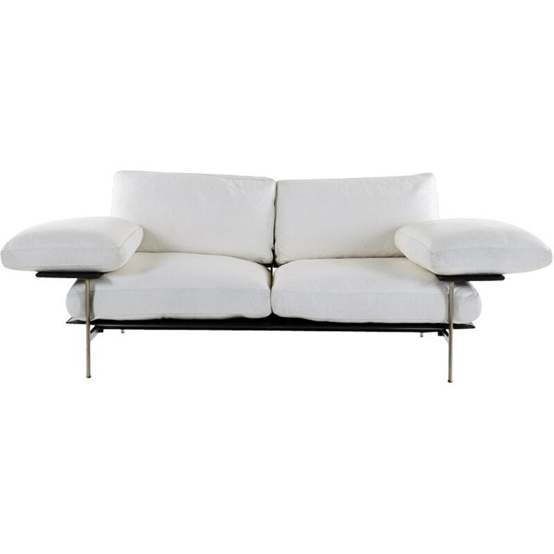 Vintage Diesis Sofa in White Leather by Citterio & Nava for B&B - 1980s