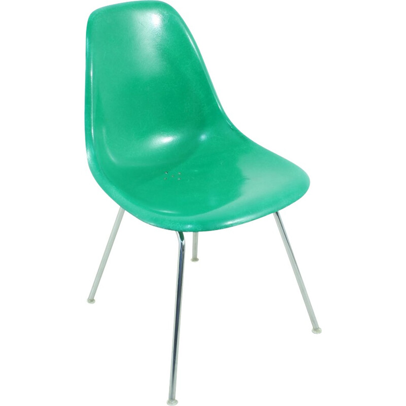 Vintage Side chair in kellygreen by Hermann Miller for Vitra - 1960s