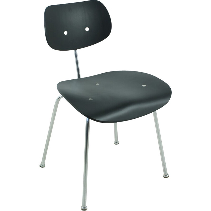 Vintage black lacquered SE68 chair by Egon Eiermann for Wilde & Spieth - 1960s