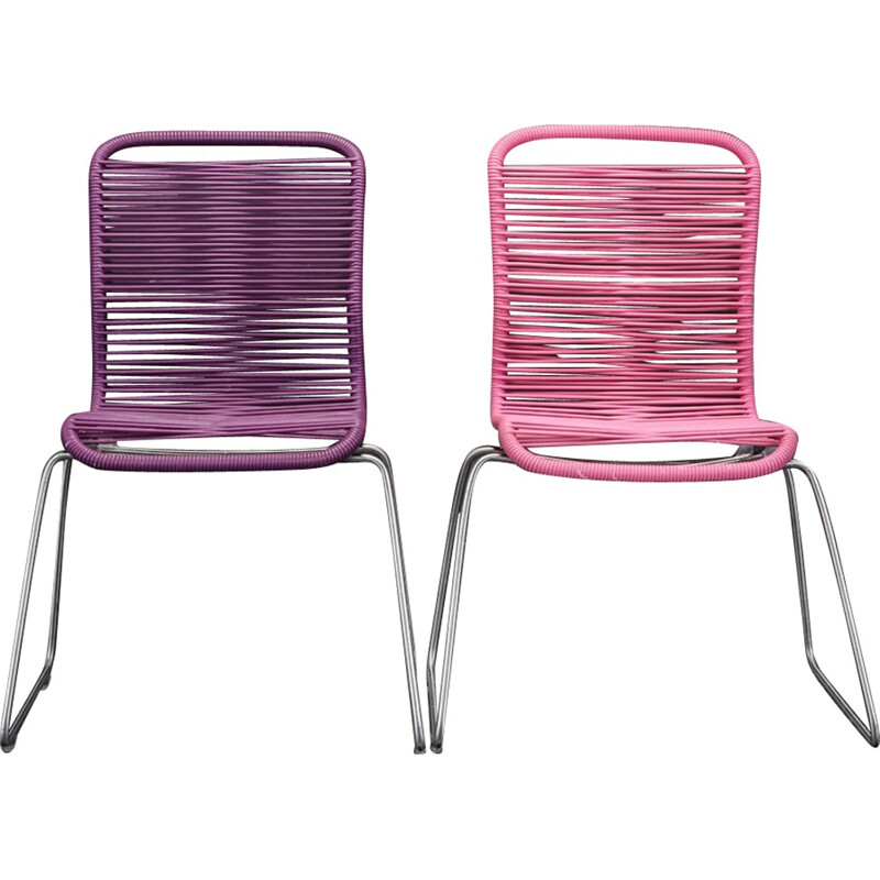 Set of two mid-century Tivoli chairs by Verner Panton - 1950s