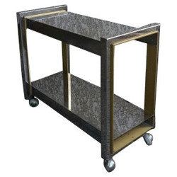 Serving table on castors, W. RIZZO - 1960s