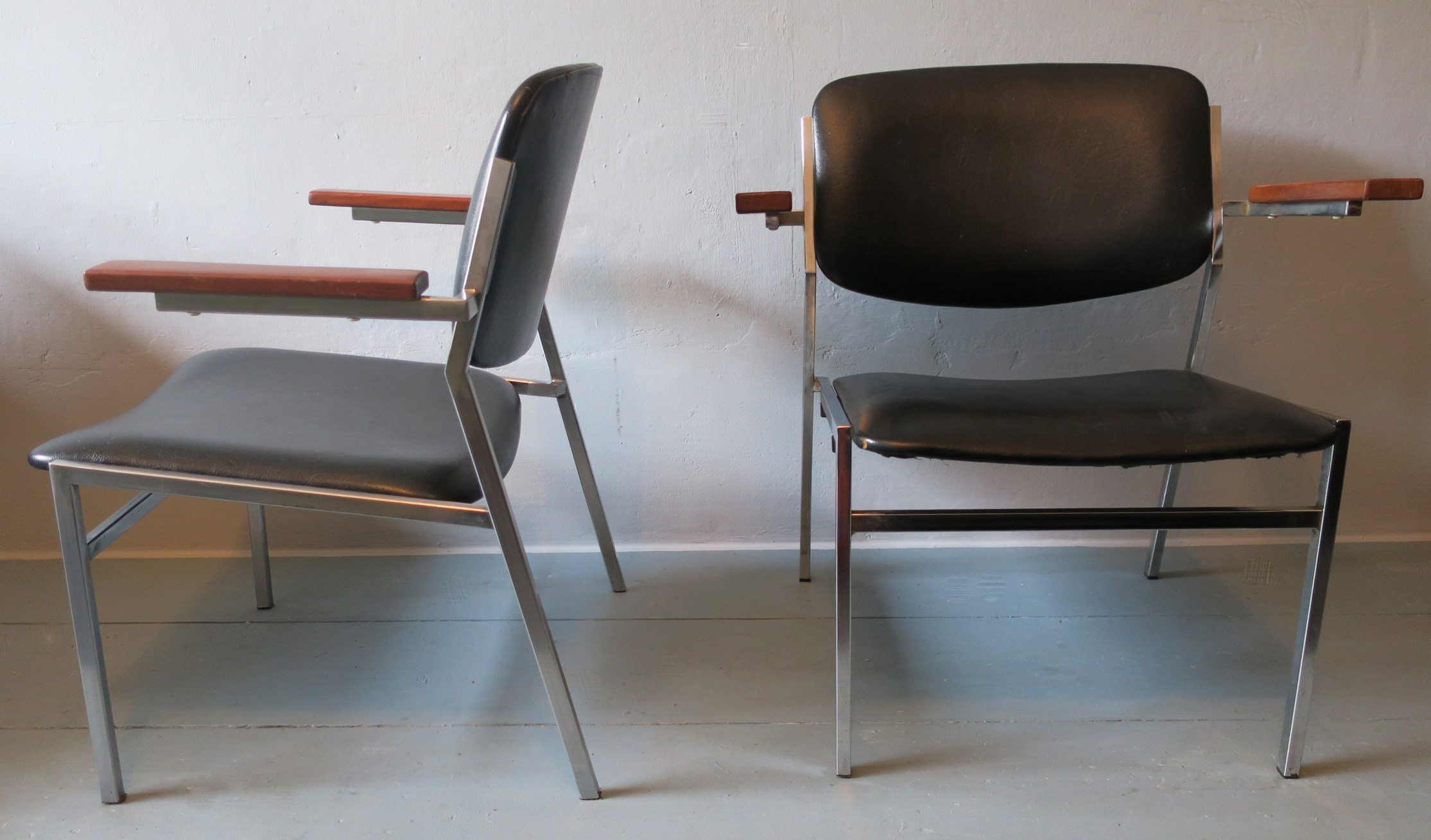 Mid Century Low Cocktail Stacking Chairs By Martin Visser 1960s