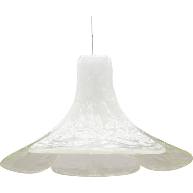 Murano Glass Hanging Lamp by Carlo Nason for Mazzega - 1960s