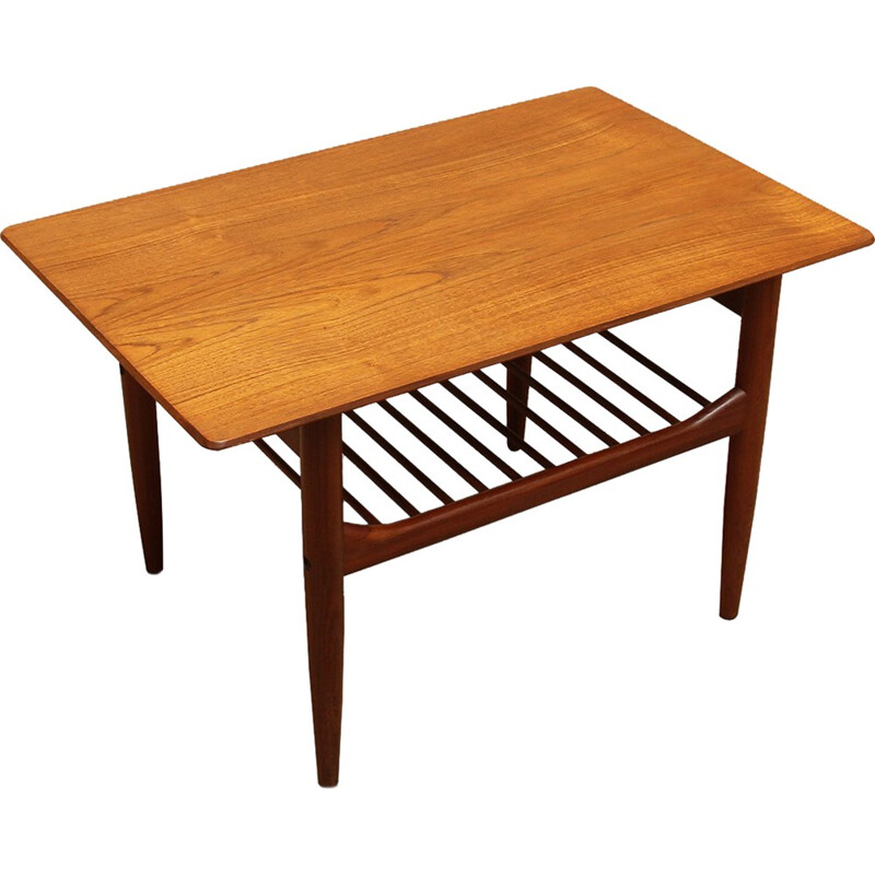 Vintage coffee table in teak by Kofod Larsen for Gomme - 1960s