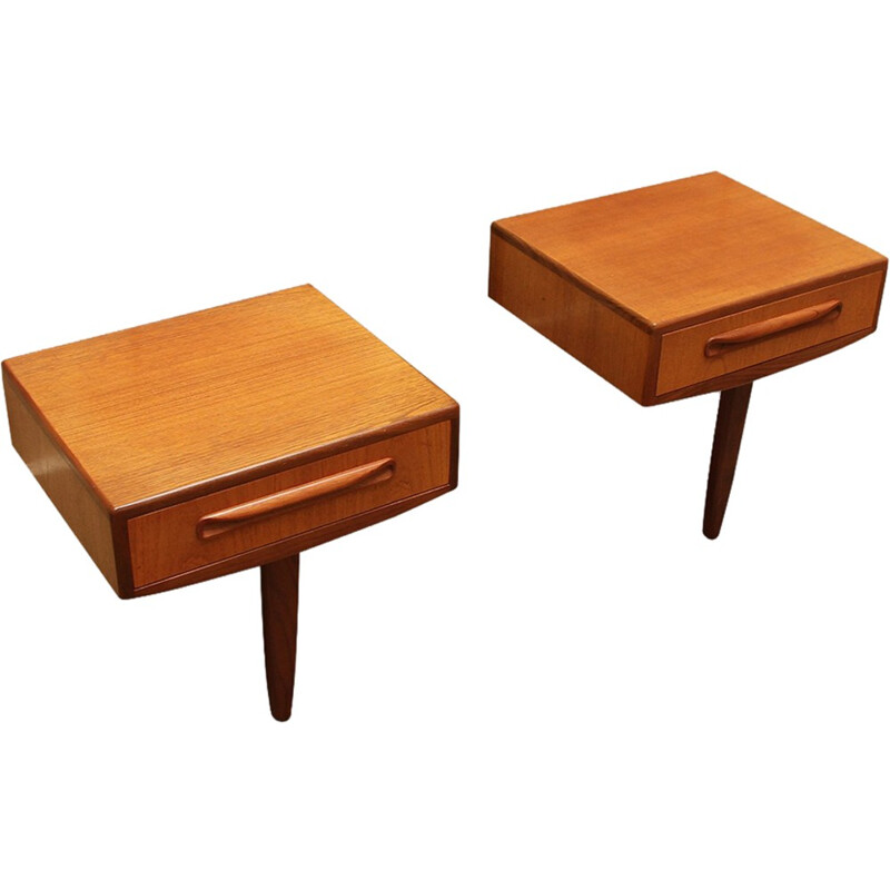Set of 2 bedside tables in teak and afrormosia for G-plan - 1970s