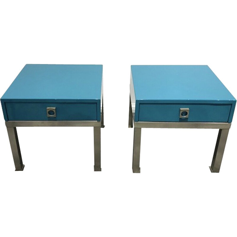 Set of 2 bedside tables by Guy Lefevre for Maison Jansen - 1970s