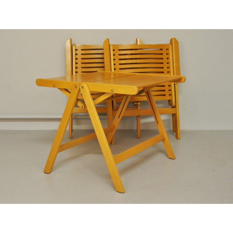 Previous  sc 1 st  Design Market & Rex Folding Chairs u0026 Table Set by Niko Kralj - 1950s - Design Market